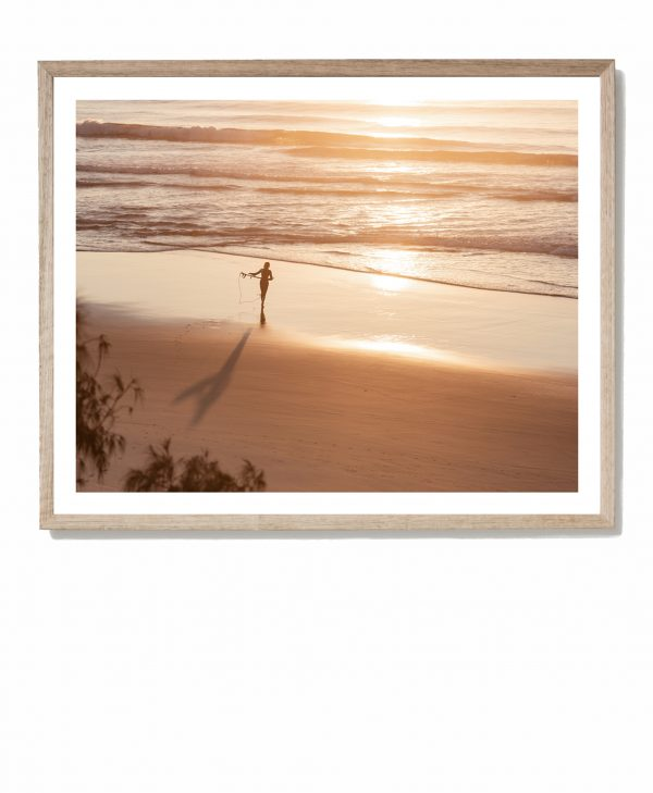 Life Is Golden - framed Coolum print by Tracy Naughton