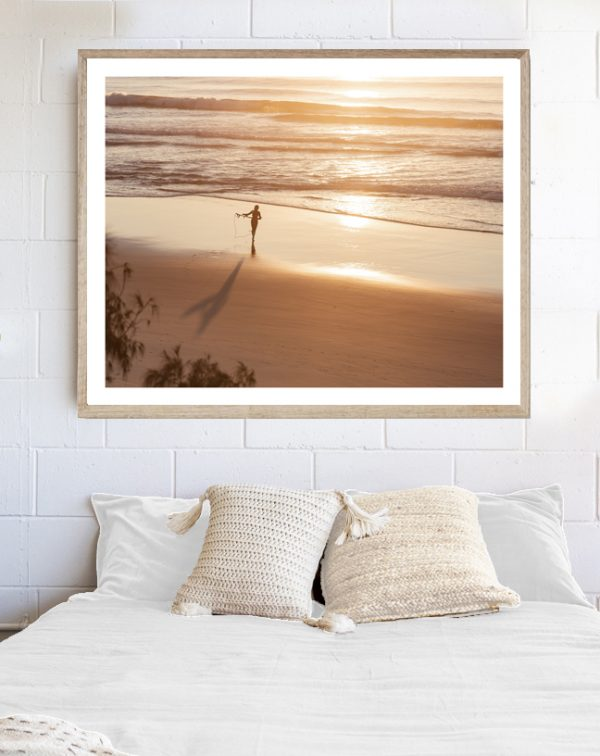 Life Is Golden - framed artwork above bed