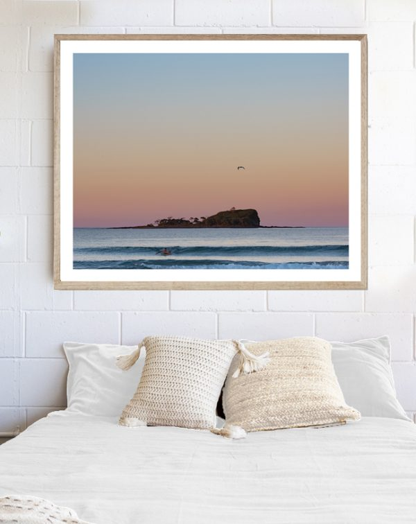 Day Dreamer - framed art print above bed